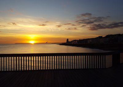 St Leonards Sun Set - Hastings Pier