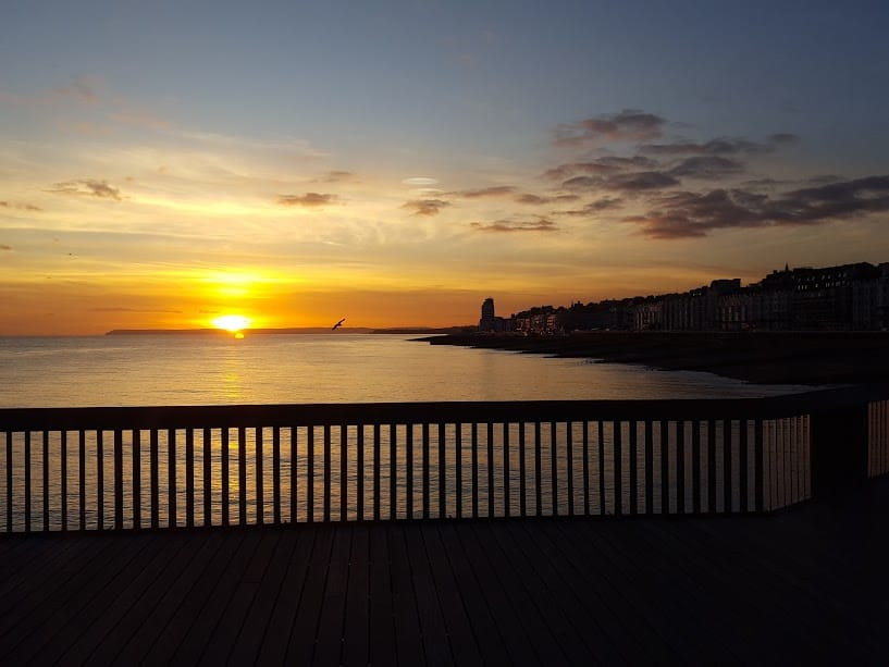 St Leonards Sun Set - Hastings Pier